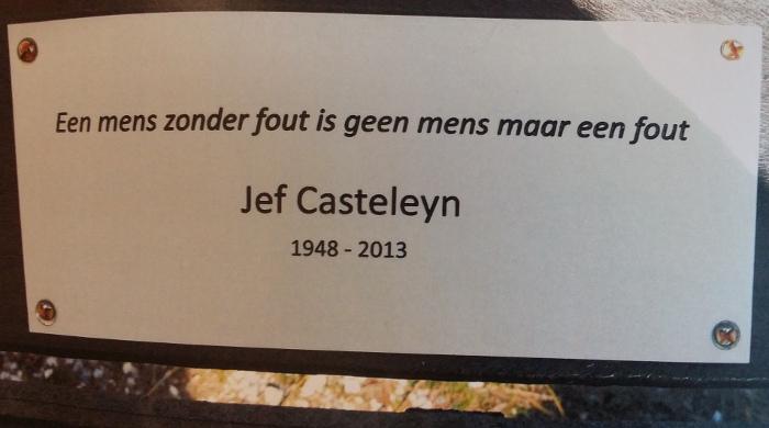 Een mens zonder fout is geen mens maar een fout - quote Jef Casteleyn