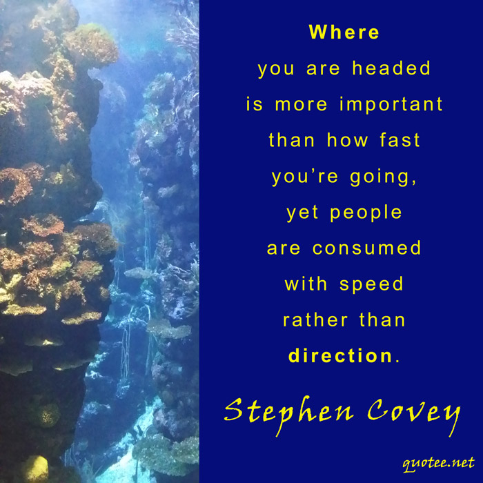 Quote Stephen Covey - Where you are headed